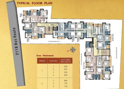 Project Image of 710 - 870 Sq.ft 2 BHK Apartment for buy in Magnolia Crossword