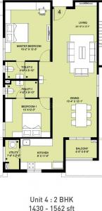 Gallery Cover Image of 1430 Sq.ft 2 BHK Apartment for buy in Incor PBEL City, Peeramcheru for 9400000