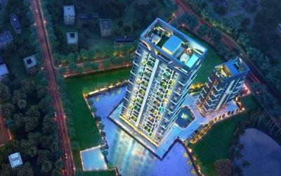 Gallery Cover Image of 1609 Sq.ft 3 BHK Apartment for buy in Merlin Iland, Picnic Garden for 14000000