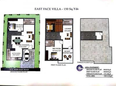 Gallery Cover Image of 2006 Sq.ft 3 BHK Independent House for buy in Bachupally for 8800000