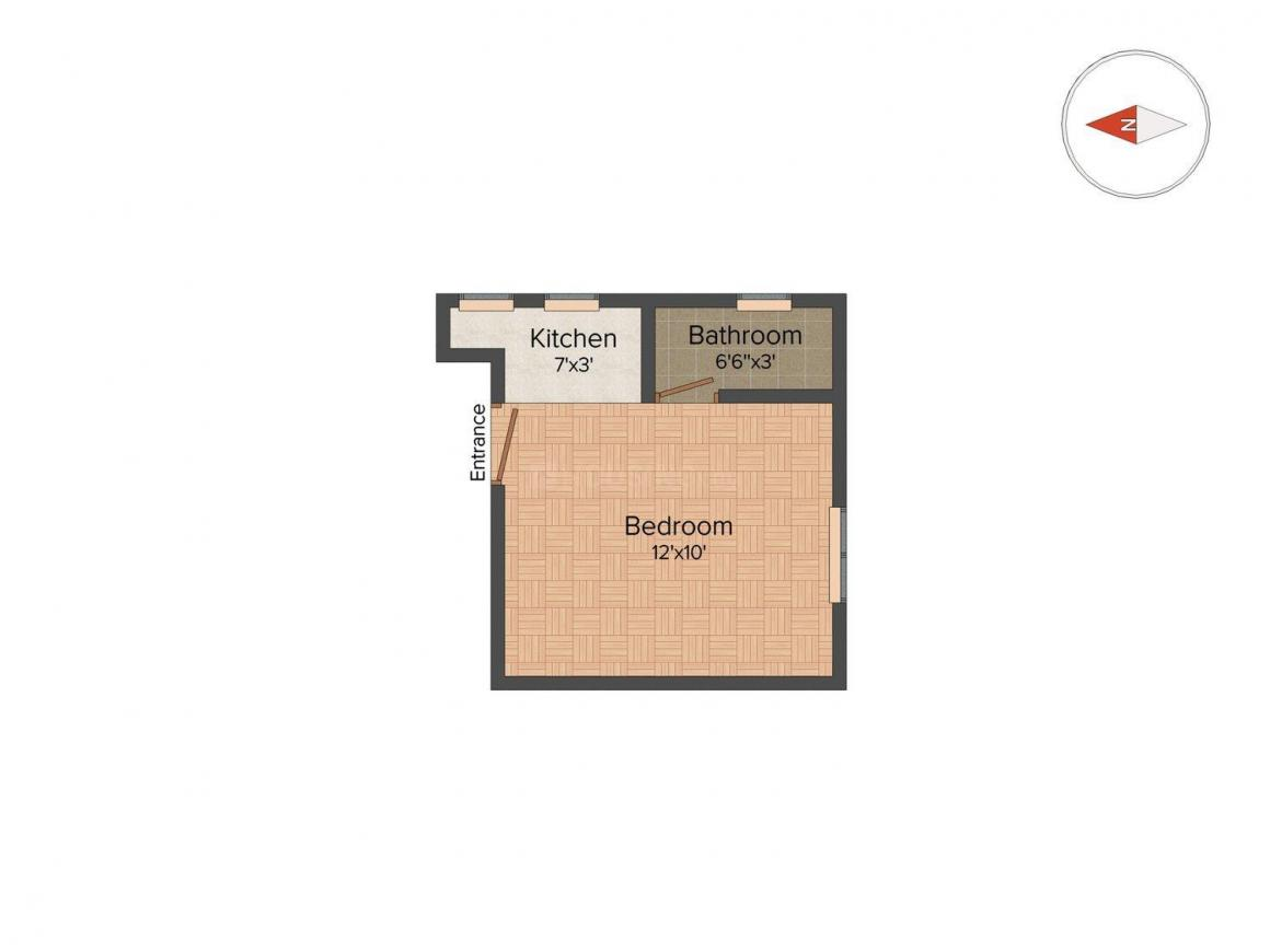 Floor Plan Image of 200 Sq.ft 1 RK Apartment for buy in Ramchandrapur for 1700000