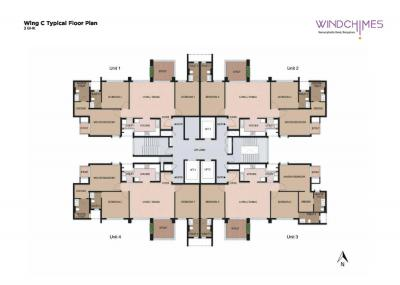 Gallery Cover Image of 3112 Sq.ft 4 BHK Apartment for buy in Mahindra Windchimes, Arakere for 28000000