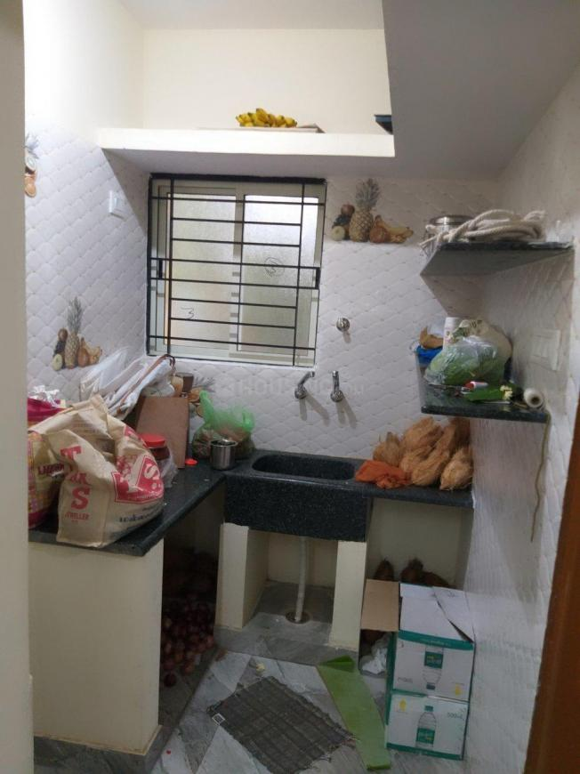 Kitchen Image of 400 Sq.ft 1 BHK Independent House for rent in Laggere for 7000