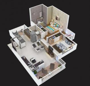 Gallery Cover Image of 900 Sq.ft 2 BHK Apartment for buy in Kriasla 41 Evoke Phase 1, Ravet for 4500000
