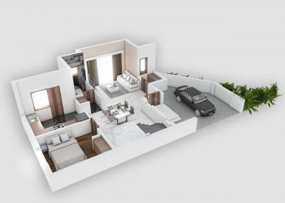 Gallery Cover Image of 1850 Sq.ft 3 BHK Independent House for buy in Medavakkam for 11029589