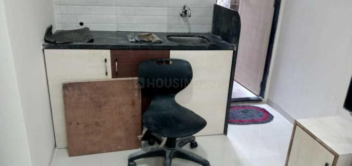 Kitchen Image of 600 Sq.ft 1 RK Independent Floor for rent in Ghansoli for 9000
