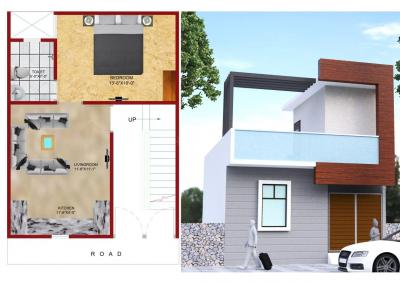 Gallery Cover Image of 550 Sq.ft 1 BHK Villa for buy in Noida Extension for 2499999