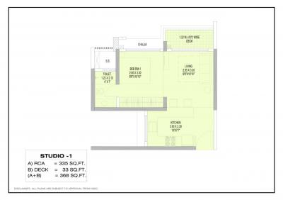 Gallery Cover Image of 630 Sq.ft 1 BHK Apartment for buy in Juinagar for 7500000