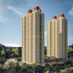 Gallery Cover Image of 1100 Sq.ft 3 BHK Apartment for rent in Larkins Pride Palms, Thane West for 35000