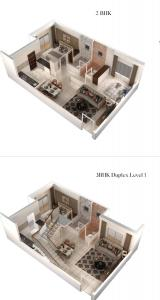 Gallery Cover Image of 825 Sq.ft 2 BHK Apartment for buy in Thanisandra for 3700000