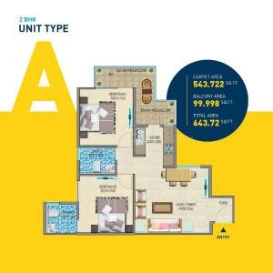 Gallery Cover Image of 750 Sq.ft 2 BHK Apartment for buy in Sector 68 for 2224000