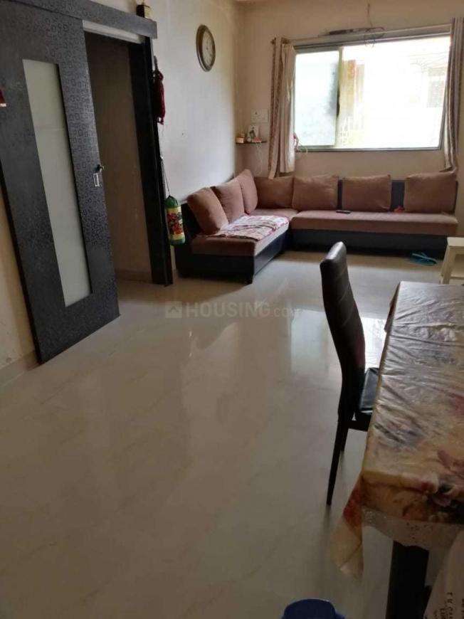 Living Room Image of 550 Sq.ft 1 BHK Apartment for rent in Kopar Khairane for 17000