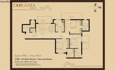 Gallery Cover Image of 1305 Sq.ft 2 BHK Apartment for buy in TDI Ourania, DLF Phase 5 for 12500000