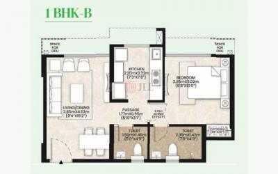 Gallery Cover Image of 400 Sq.ft 1 BHK Apartment for buy in Mahindra Happinest Kalyan Project A, Bhiwandi for 3002000