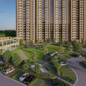Gallery Cover Image of 1010 Sq.ft 1 BHK Apartment for buy in Runwal Eirene, Thane West for 7200000