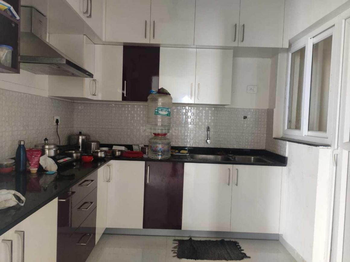 Kitchen Image of 1300 Sq.ft 3 BHK Independent Floor for rent in Karappakam for 35000