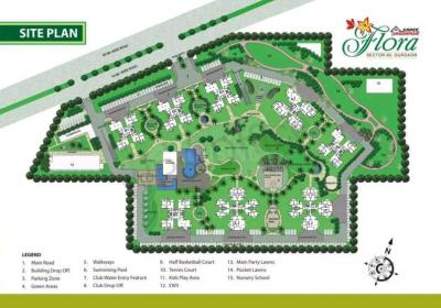 Gallery Cover Image of 1300 Sq.ft 2 BHK Apartment for buy in Shree Vardhman Flora, Sector 90 for 6000000