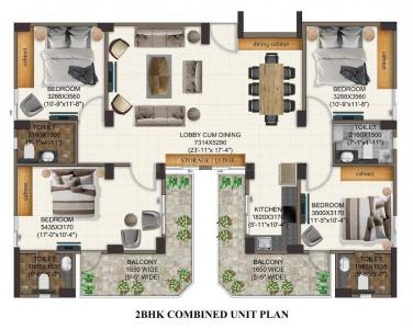 Gallery Cover Image of 615 Sq.ft 2 BHK Apartment for buy in Advitya Homes, Kail Gaon for 2511888