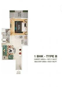 Gallery Cover Image of 550 Sq.ft 1 BHK Apartment for buy in Pyramid Infinity, Sector 70 for 1284000