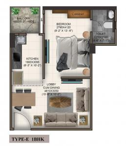 Gallery Cover Image of 500 Sq.ft 1 BHK Apartment for buy in Advitya Homes, Kail Gaon for 1489857