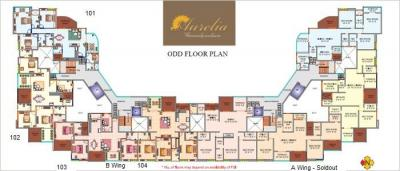 Gallery Cover Image of 1752 Sq.ft 4 BHK Apartment for buy in KBD Aurelia, Baner for 17500000