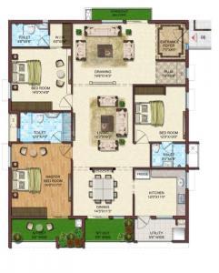 Floor Plan Image of 3097 Sq.ft 4 BHK Apartment for buy in Shreemukh Namitha 360 Life, Kothaguda for 25000000