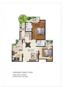 Gallery Cover Image of 1230 Sq.ft 3 BHK Apartment for buy in Ajnara Grand Heritage, Sector 74 for 8000000