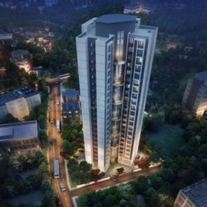 Gallery Cover Image of 711 Sq.ft 1 BHK Apartment for buy in Yogi Ajmera Bliss, Kalyan West for 4350000