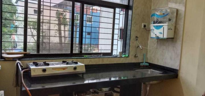 कॉपर खैरने में श्री कृष्ण पीजी के किचन की तस्वीर