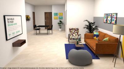 Living Room Image of Stanza Living - Bridhavanam1 Apartment Sholinganallur in Sholinganallur