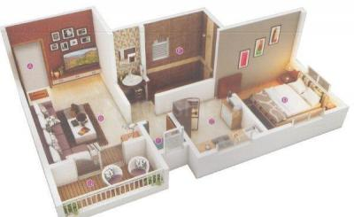 Floor Plan Image of 575 Sq.ft 1 BHK Apartment for buy in Narhe for 2200000