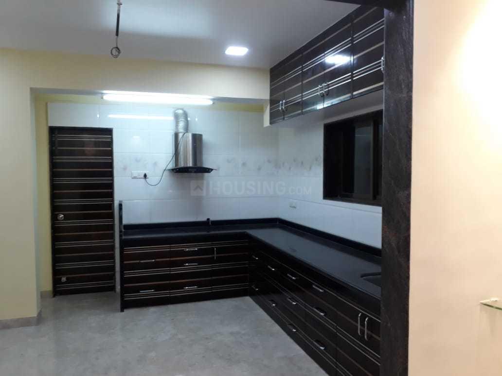 Kitchen Image of 600 Sq.ft 1 BHK Independent Floor for rent in Kopar Khairane for 16000