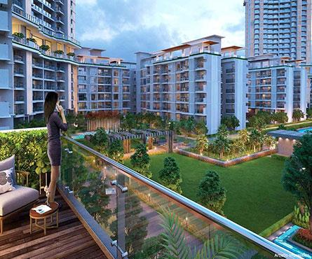 Balcony Image of 1255 Sq.ft 2 BHK Apartment for buy in Godrej Woods , Sector 43 for 12500000