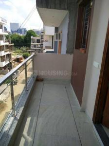 Balcony Image of Furnished Room With Attach Bath And Kitchen On Golf Course Road in Sushant Lok I