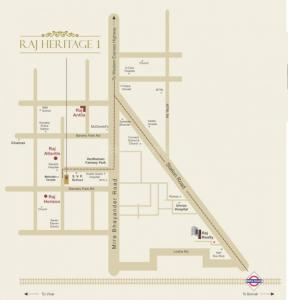 Gallery Cover Image of 756 Sq.ft 1 BHK Apartment for buy in Raj Heritage 1, Mira Road East for 7100000