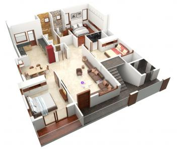 Gallery Cover Image of 1645 Sq.ft 3 BHK Apartment for buy in JP Nagar for 16521000