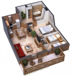 Gallery Cover Image of 1100 Sq.ft 2 BHK Apartment for buy in Basavanagudi for 4500000