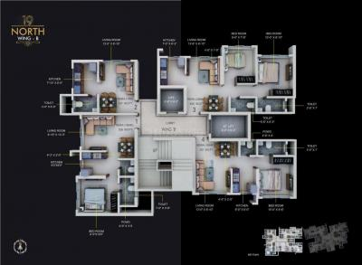 Gallery Cover Image of 425 Sq.ft 1 BHK Apartment for buy in 19 North, Kandivali West for 7500000