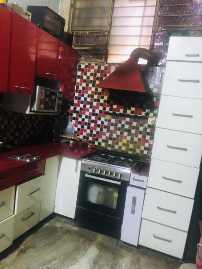 माधोपुरा में आशीर्वाद पीजी में किचन की तस्वीर