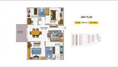 Gallery Cover Image of 1100 Sq.ft 2 BHK Apartment for buy in Urban Orchids, Bahadurpally for 5720000