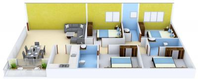 Gallery Cover Image of 2100 Sq.ft 4 BHK Apartment for buy in Space Club Town Gateway, Rajarhat for 11130000