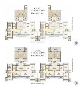 Gallery Cover Image of 1160 Sq.ft 2 BHK Apartment for buy in KT Sai Kutir, Kopar Khairane for 15000000