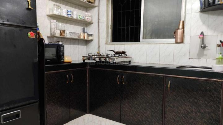 Kitchen Image of 650 Sq.ft 1 BHK Apartment for rent in Thane West for 16000