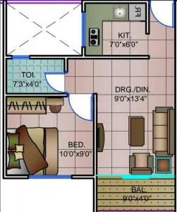 Gallery Cover Image of 535 Sq.ft 1 BHK Apartment for buy in Nariman IT City, Bada Bangarda for 1256000