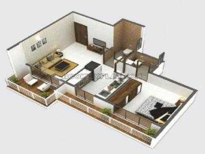 Gallery Cover Image of 400 Sq.ft 1 RK Apartment for buy in Shree Ostwal Horizon, Mira Road East for 3425000