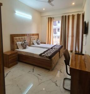 Bedroom Image of Aradhya PG in Sector 57