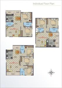 Gallery Cover Image of 1200 Sq.ft 2 BHK Apartment for buy in Ganganagar for 3850000