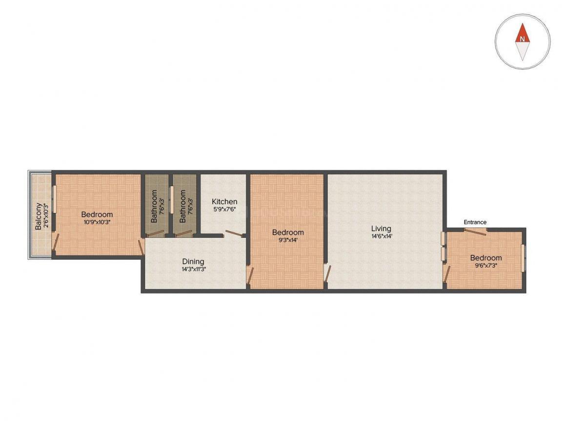 3 BHK 900 Sqft Independent Floor For Sale At Lajpat Nagar II New Delhi