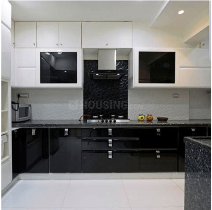 Kitchen Image of 1800 Sq.ft 4 BHK Apartment for rent in Sector 19 Dwarka for 48000