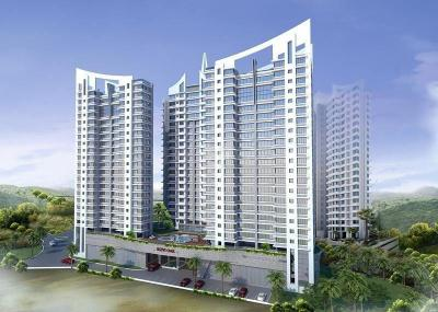 Gallery Cover Image of 1200 Sq.ft 2 BHK Apartment for rent in Rizvi Oak, Malad East for 42000